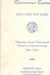 January Class 1962 _ Commencement Exercises _ Cover