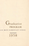 Horace Mann June 1958 Graduation Program p1 - from Annette Maffia Dlugan