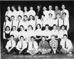 Horace Mann January class 8B March 1957 - submitted by Lois Yalowitz Moss